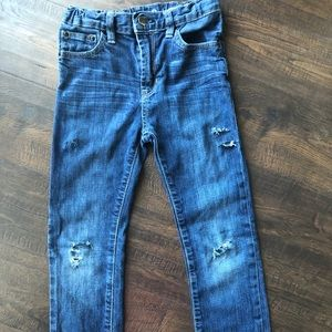 Boys Size 10 GAP skinny distressed jeans cute!